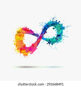 Vector watercolor Infinity Symbol on a white background