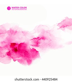 Vector watercolor painting background.