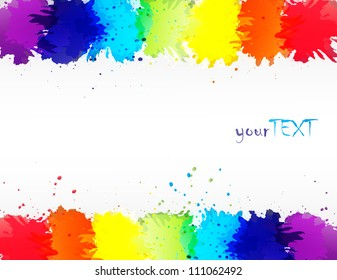 vector watercolor rainbow abstract background design
