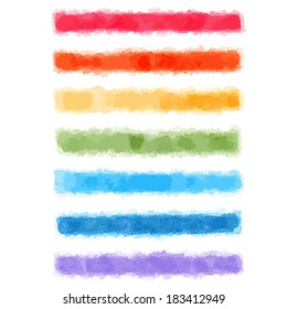 Vector watercolor rainbow stripes