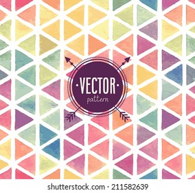 Vector Watercolor seamless pattern.