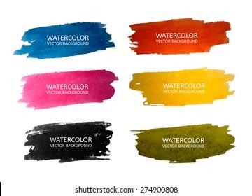 Vector Watercolor set