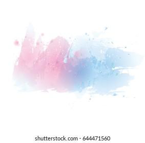 Vector watercolor splash texture background.