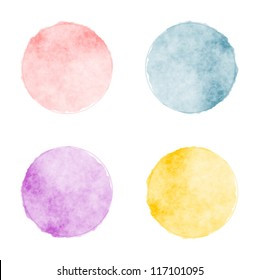 Vector watercolor stains