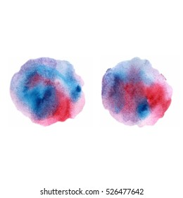 Vector watercolour  blue purple red abstra?t spots