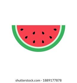 Vector Watermelon Flat Design Illustration