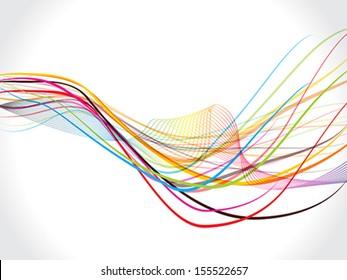 Vector Wave background Vector illustration