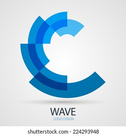 Vector wave company logo design, business symbol concept