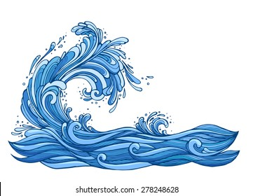 vector wave splash