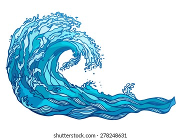 vector wave splash