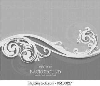 Vector waving floral border design