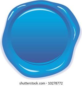 vector wax blue seal