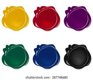 vector wax seals collection