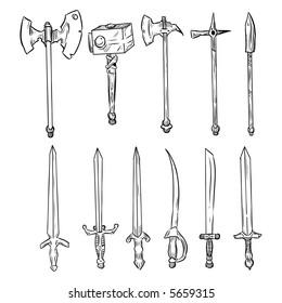 Vector weapons set
