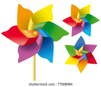 Vector weather vane in a shape of flower