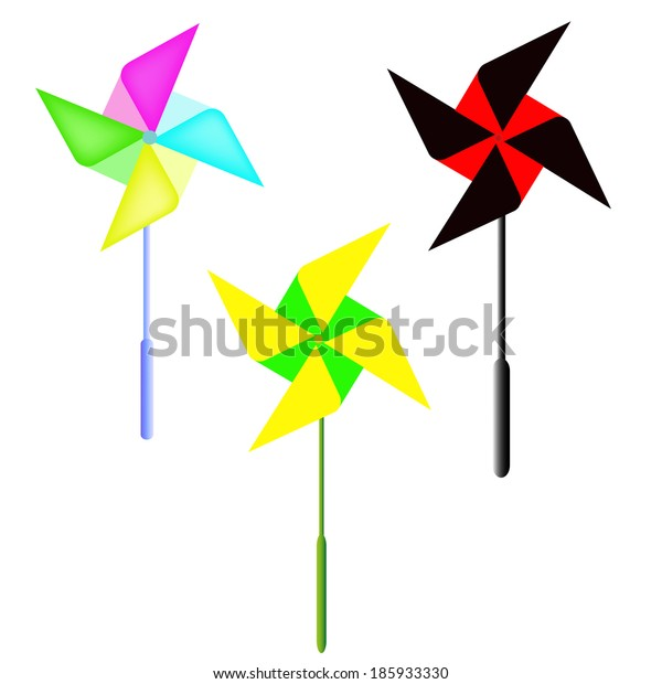 Vector weather vane in a shape of flower. A vector illustration