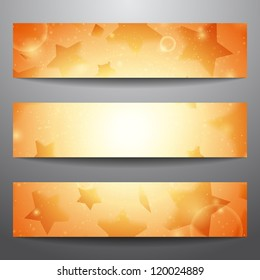 Vector web banners. One, two, three. Presentation slide template. Abstract background. Business background. Technology background. Party background. Music background. Glowing background. Disco music