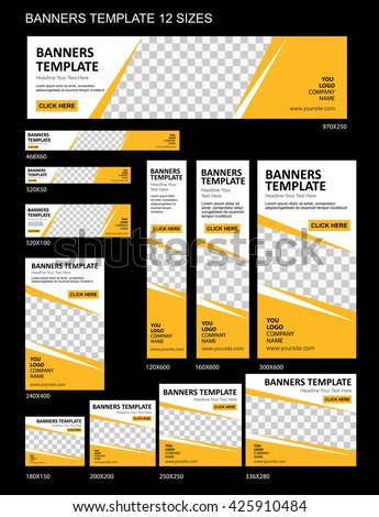 vector web banners templates stock vector royalty free 425910484