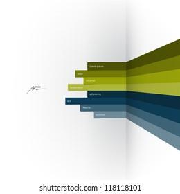 vector web design template - horizontal lines in perspective
