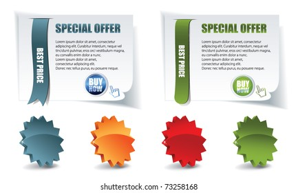 vector web elements for sale whit stars