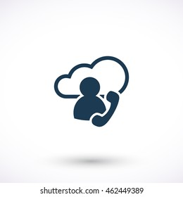 Vector web icon. Cloud pictogram. Graphic symbol for web design, logo. Isolated sign on a white background.