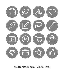 Vector web icons set 1 / business, social media, banking and money, data management, media