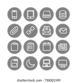 Vector web icons set 4 / business, social media, banking and money, data management, media