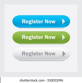 Vector Web interface buttons. Register now.
