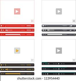 Vector web media player's frames amd elements