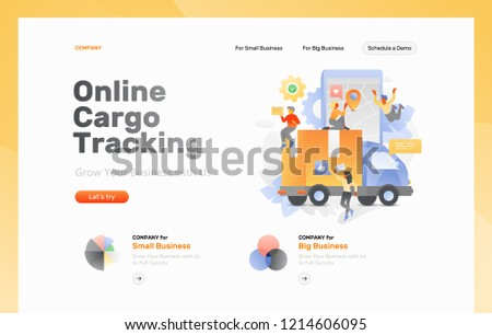 Vector Web Page Template Online Cargo Stock Vector (Royalty Free