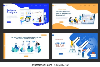 vector web template business concept