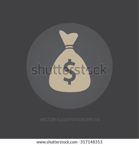 Vector Webicon Dark Gray Background Money Stock Vector (Royalty Free