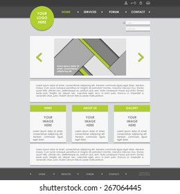 Vector Website Design Template. EPS 10