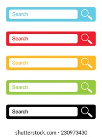 Vector Website Search Engine Icon Set