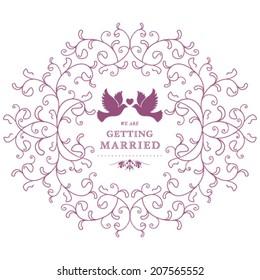 Vector wedding invitation card.