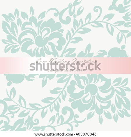 vector wedding invitation card lace lily のベクター画像素材