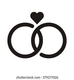 Wedding Rings Vector Icon Stock Vector Royalty Free 251293285