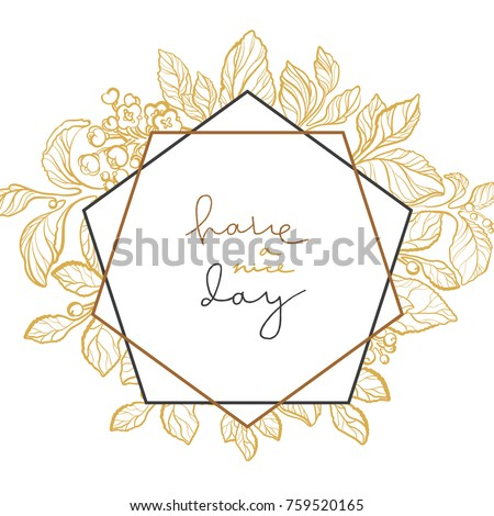 vector wedding template elegant mate branch stock vector royalty