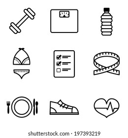 Vector Weight Loss Icons