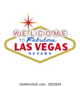 VECTOR: welcome to fabulous Las Vegas Nevada sign at day