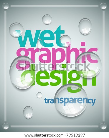 vector wet poster template transparent water stock vector royalty