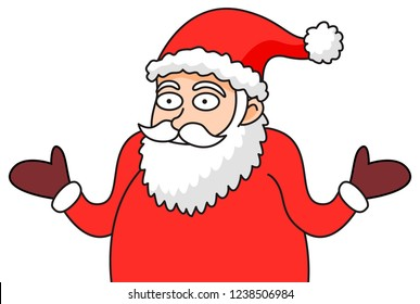 Vector Whatever Guy Meme Face Santa transparent background, illustration