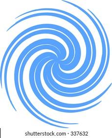 A vector whirlpool spiral shape