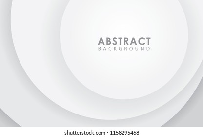 Vector white background with circles