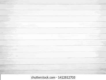 Vector white background with horizontal scratched wood boards