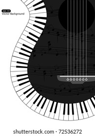 Vector white and black musical background