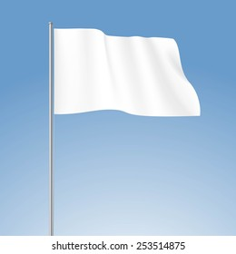 Vector White Blank Flag Isolated on Background