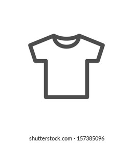 Vector White Blank Tshirt Icon Symbol
