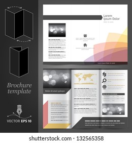 Vector white brochure template design with color elements. EPS 10