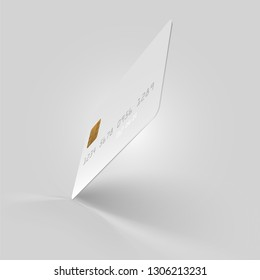 Vector White Credit Card Illustration Template